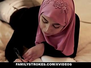FamilyStrokes - Pakistani Wife (Ella Knox) Rides Cock In Hijab