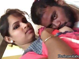 Sucking My Girl Friend Pooja'_s Boobs