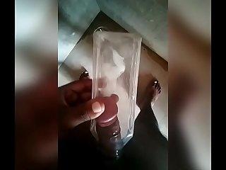 Desi jerking using bottle